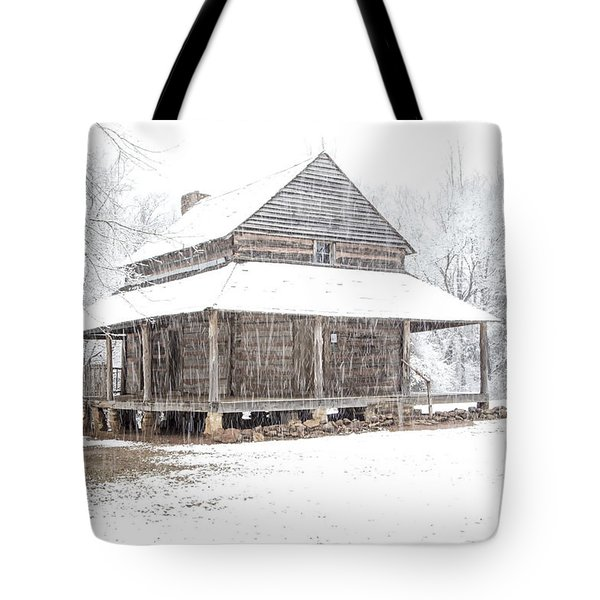 Cabin In The Snow Tote Bag