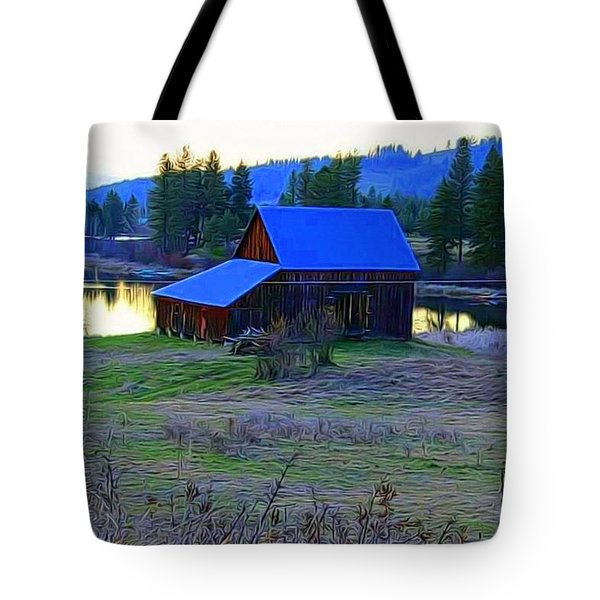 Cabin In The Valley Tote Bag
