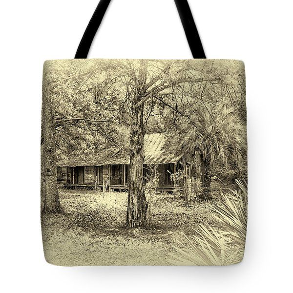 Tote Bag featuring the photograph Cabin In The Woods by Louis Ferreira
