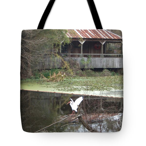 Cabin On The Bayou Tote Bag