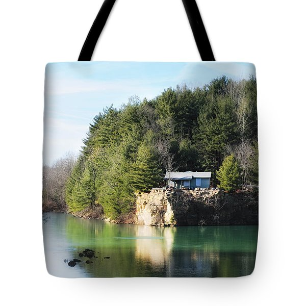 Cabin On The Lake Tote Bag