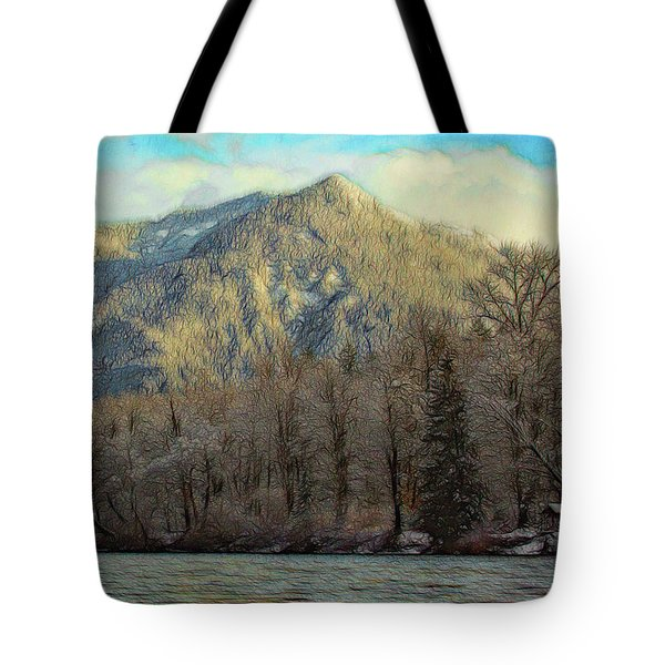Cabin On The Skagit River Tote Bag
