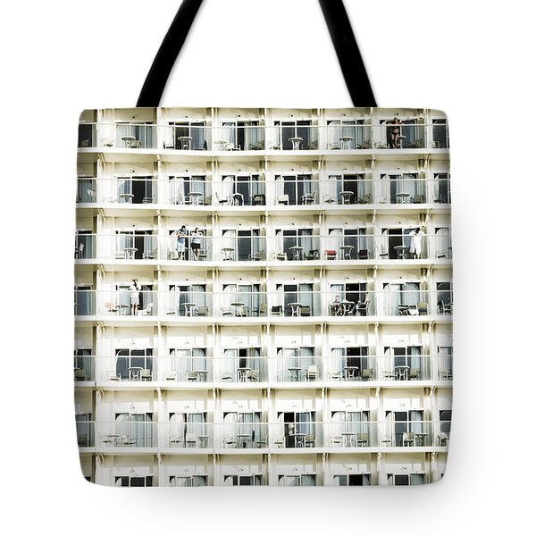 Cabins And Deck Tote Bag