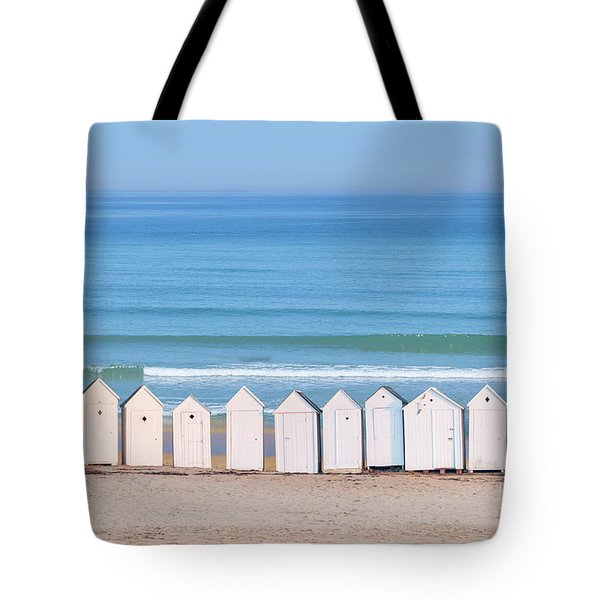 Tote Bag featuring the photograph Cabins by Delphimages Photo Creations