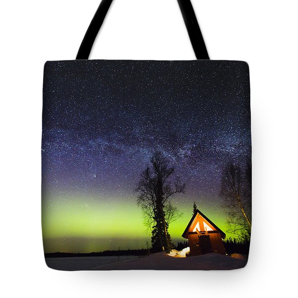 Cabins Glow Tote Bag by Ed Boudreau