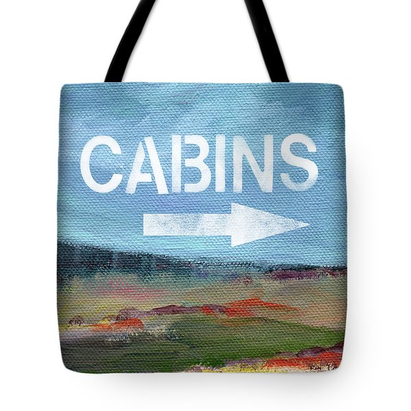 Cabins- Landscape Painting By Linda Woods Tote Bag