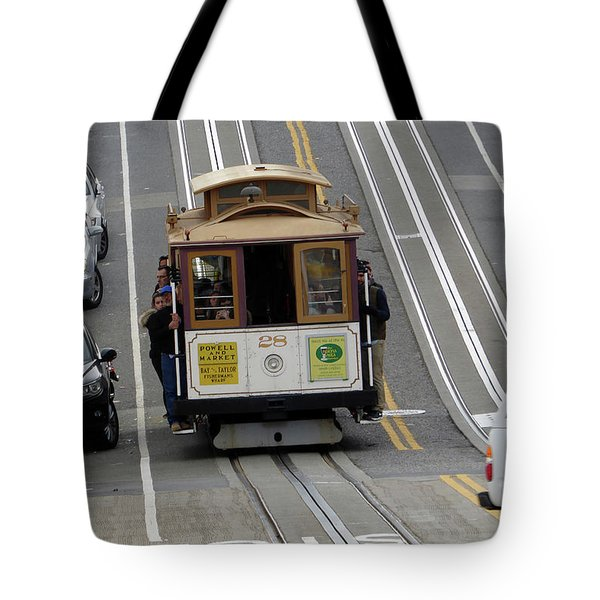 Tote Bag featuring the photograph Cable Car by Steven Spak