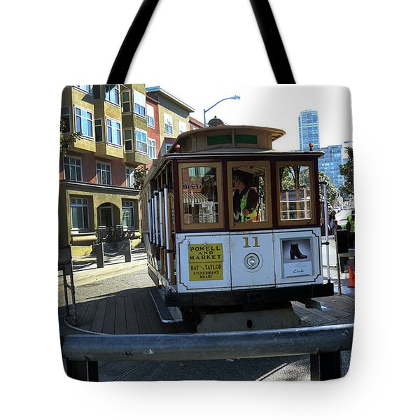 Tote Bag featuring the photograph Cable Car Turnaround by Steven Spak