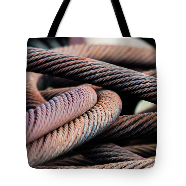 Cable Chaos Tote Bag