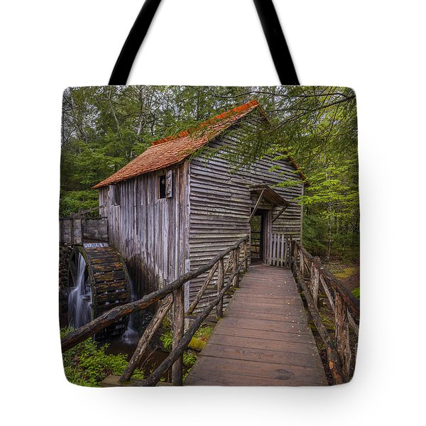 Cable Grist Mill Tote Bag by Anthony Heflin