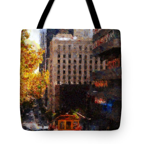 Cablecar on San Francisco California Street  . Painterly . 7D7176 Tote Bag by Wingsdomain Art and Photography