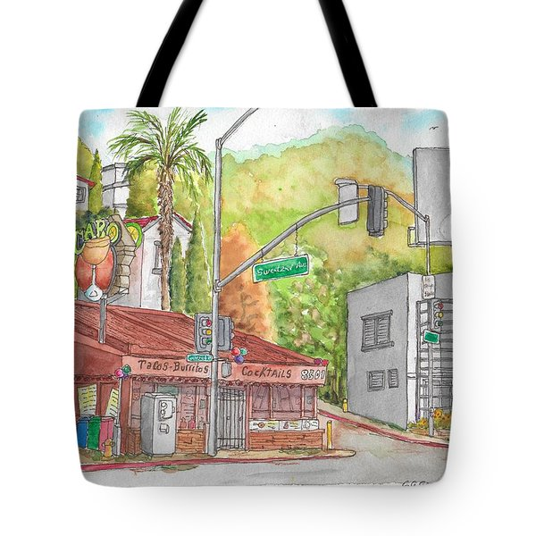 Cabo Cantina, Sunset Blvd And Sweetzer Ave., West Hollywood, California Tote Bag