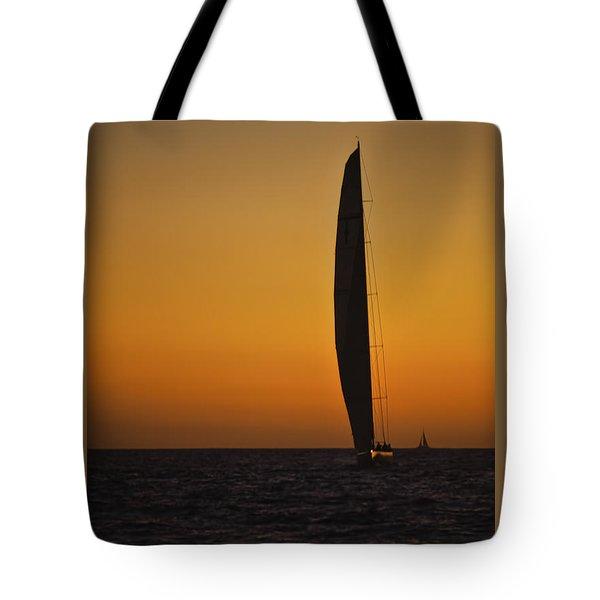 Cabo Sailboat Sunset Tote Bag