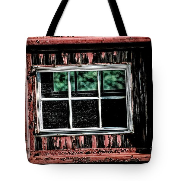 Tote Bag featuring the photograph Caboose Window by Brad Allen Fine Art