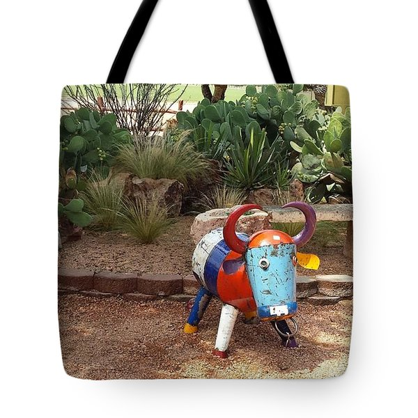 Cacti Garden At Wildseed Farms Tote Bag