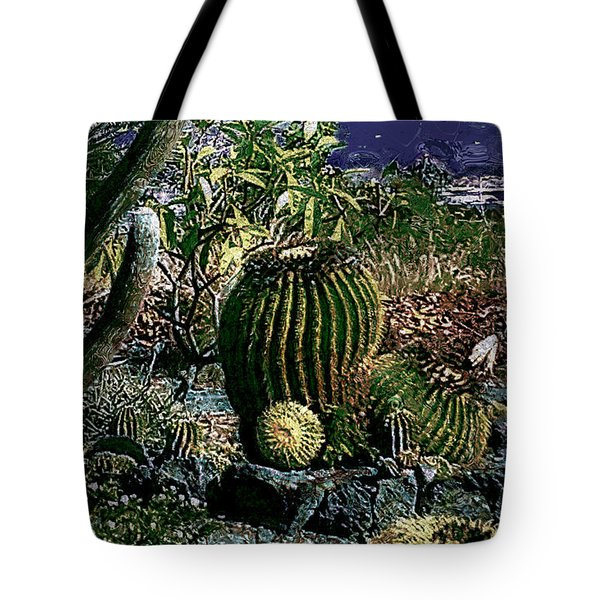 Tote Bag featuring the photograph Cacti by Lori Seaman