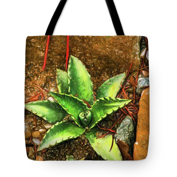 Tote Bag featuring the digital art Cacti Moods In Technicolor by Terry Cork