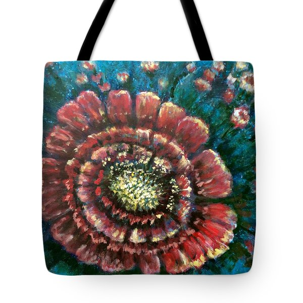 Tote Bag featuring the painting Cactus # 2 by Laila Awad Jamaleldin