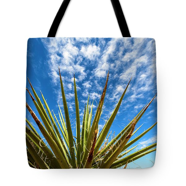 Cactus And Blue Sky Tote Bag by Amyn Nasser