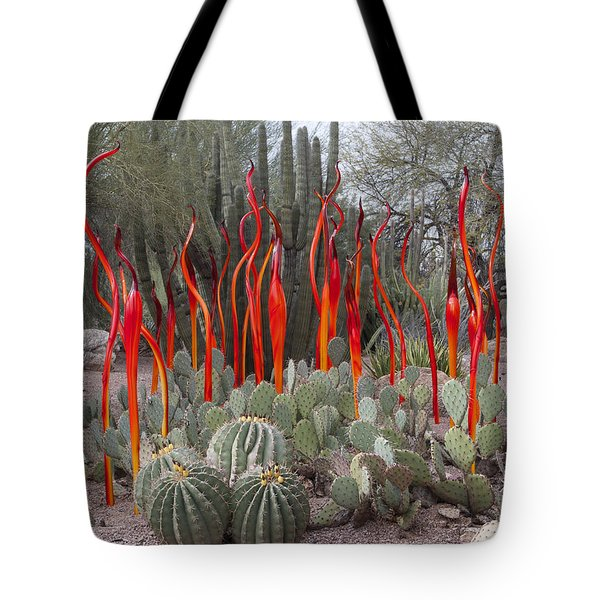 Cactus And Glass Tote Bag