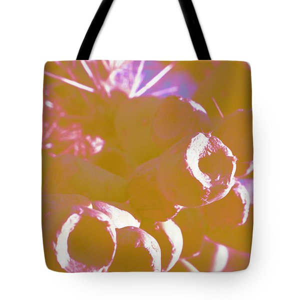 Tote Bag featuring the photograph Cactus Apples In Modern Art by Carolina Liechtenstein