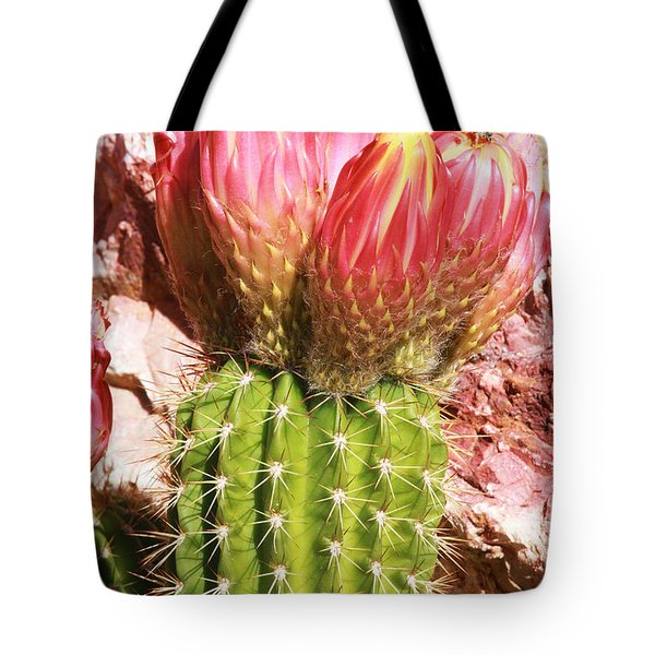 Cactus Flowe Bee Tote Bag