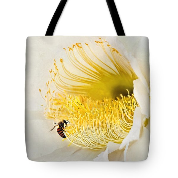 Tote Bag featuring the photograph Cactus Flower Diner No. 2 by Joe Bonita