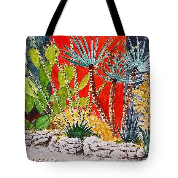 Cactus Garden  Tote Bag by Fred Jinkins