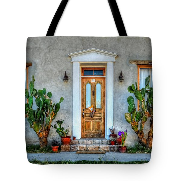 Tote Bag featuring the photograph Cactus Guards by Ken Smith