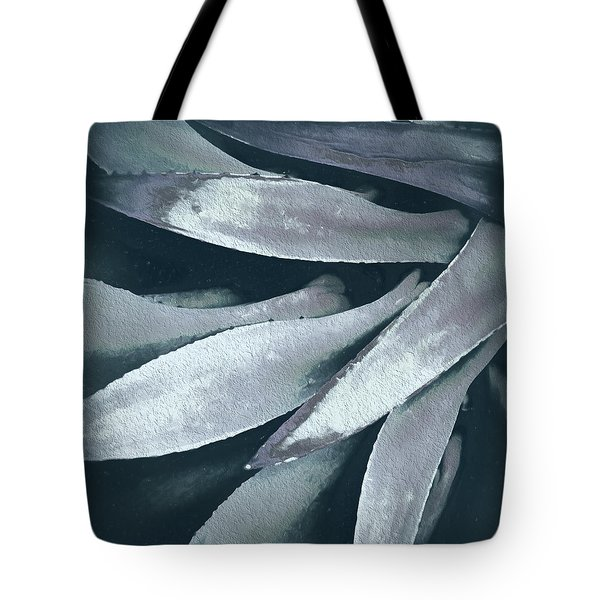 Tote Bag featuring the photograph Cactus In Blue And Grey 2 by Julie Palencia