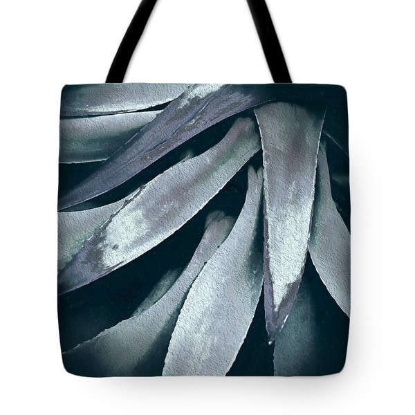 Tote Bag featuring the photograph Cactus In Blue And Grey by Julie Palencia