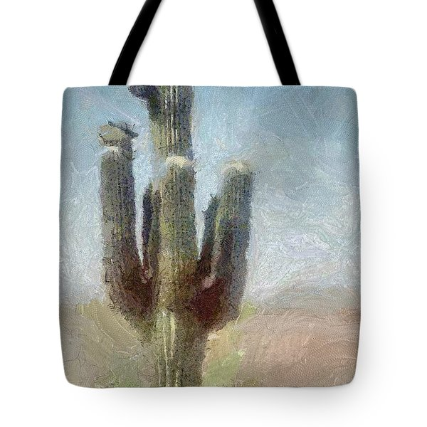 Tote Bag featuring the painting Cactus by Jeffrey Kolker