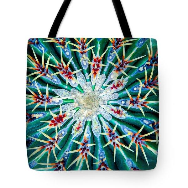 Cactus Mandala Tote Bag