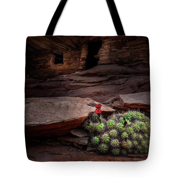 Cactus On Fire Tote Bag