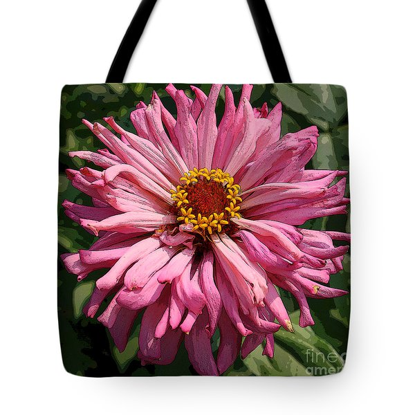 Tote Bag featuring the photograph Cactus Petal Zinnia by Jeanette French