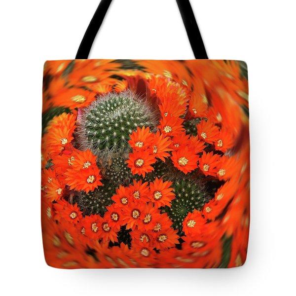 Cactus Swirl Tote Bag