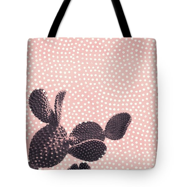 Cactus With Polka Dots Tote Bag