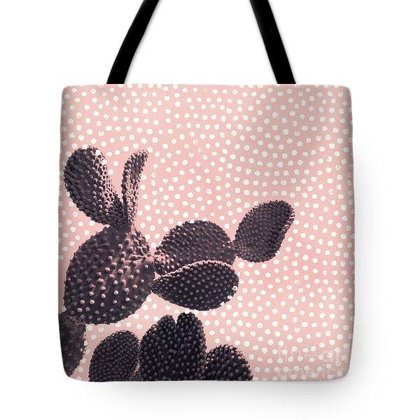 Cactus With Polka Dots Tote Bag