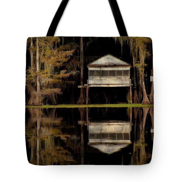 Caddo Lake Boathouse Tote Bag
