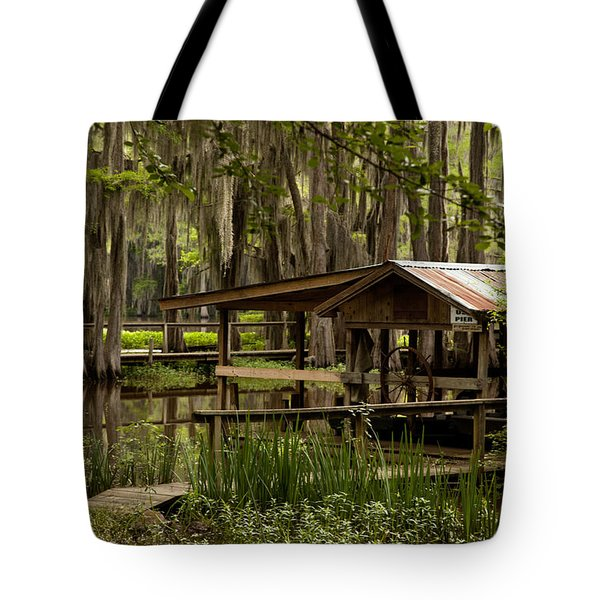 Caddo Lake Reflection Tote Bag