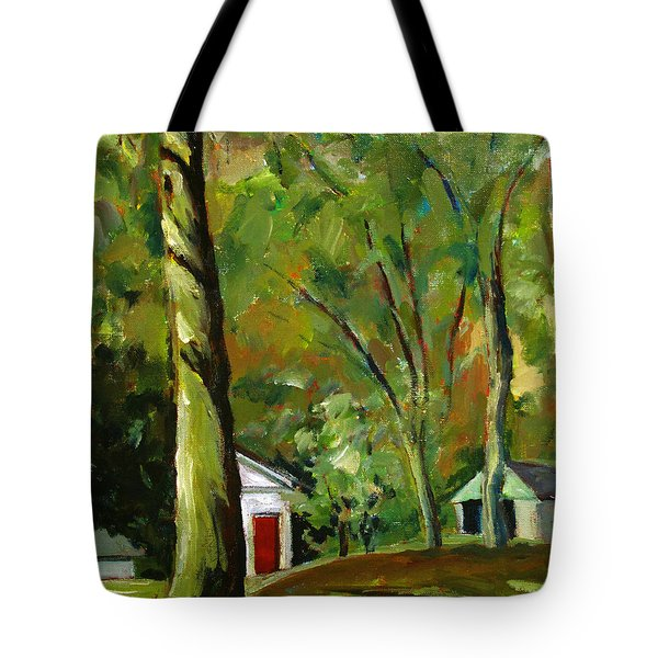 Tote Bag featuring the painting Caddy Shack by Charlie Spear