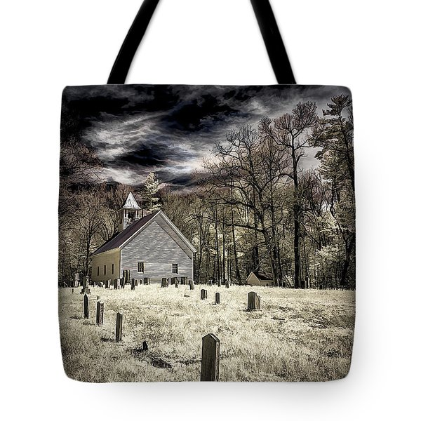 Cades Cove Church Tote Bag