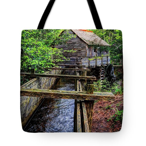Cades Cove Grist Mill In The Great Smoky Mountains National Park  Tote Bag
