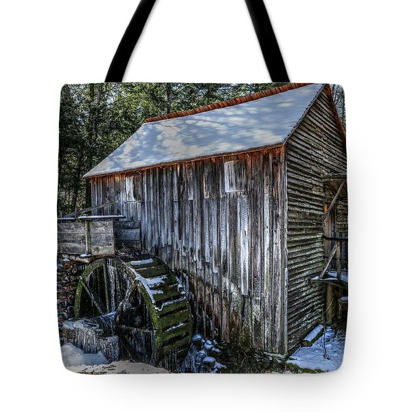 Cades Cove Grist Mill In Winter Tote Bag