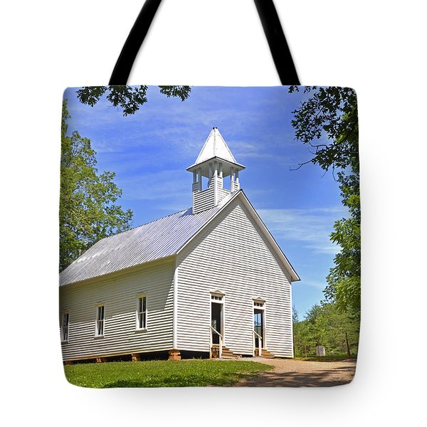 Cades Cove Methodist Church Tote Bag