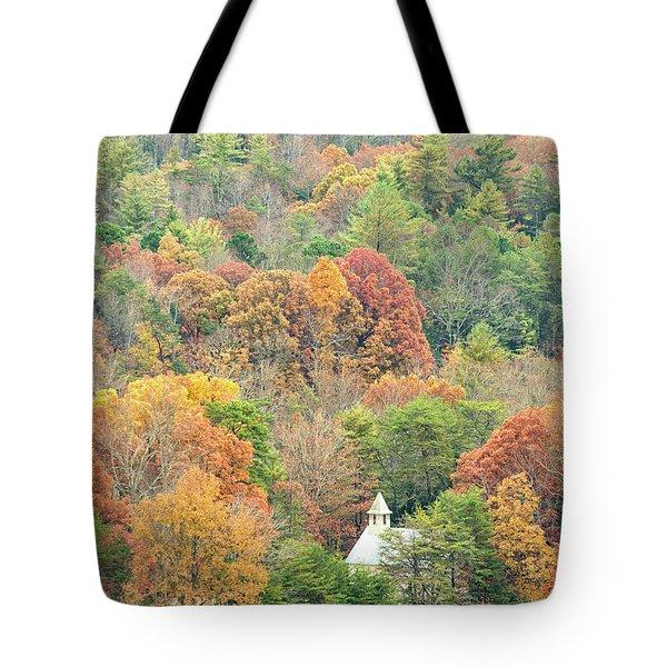 Cades Cove Methodist Church Tote Bag