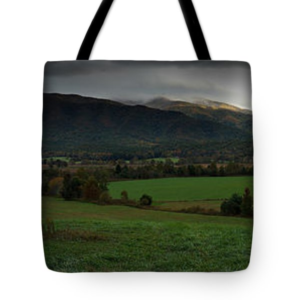 Cades Cove Panoramic Tote Bag