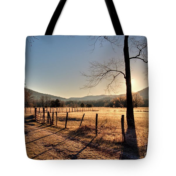 Tote Bag featuring the photograph Cades Cove, Spring 2017,i by Douglas Stucky