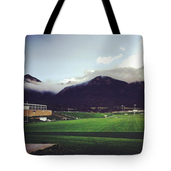 Cadet Athletic Fields Tote Bag by Christin Brodie