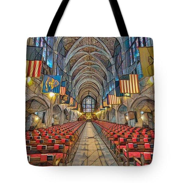 Tote Bag featuring the photograph Cadet Chapel Remix by Dan McManus